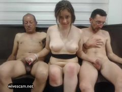 Man share his wife on cam Part.4